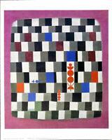 Paul Klee Super Chess Vintage Shorewood Offset Lithograph Art