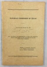 Antique 1935 Railroad Commission of Texas Docket M&M Pipe Line Humble Oil ++