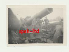 Original Foto /  grosses Eisenbahngeschütz