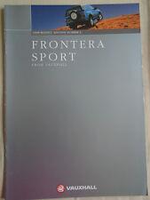 Vauxhall Frontera Sport range brochure 1998 Ed 2