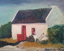 "Ireland Thatched Roof Cottage Irish Home 8""x10"" oil painting print Home Deco"
