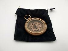 Boussole de poche Henry Hughes London, neuve diametre 6cm en laiton