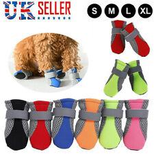 4Pcs Small Dog Shoes Protective Anti Slip Pet Rain Boots Booties Sock UK Store
