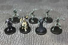 Lot of Seven (7) GHOULS from Pathfinder Battles Dungeons & Dragons Miniatures