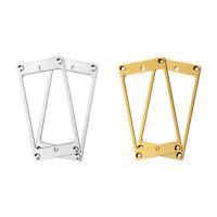 4Pcs Flat Metal Humbucker Pickup Mounting Ring Chrome Gold