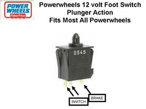 12V Power Wheels J4394-9309 Foot Board Foot Plunger LARGE Switch  Fisher Price #