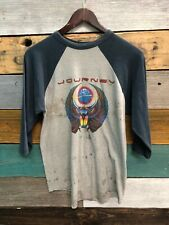 Vintage 80s Journey E5C4P3 Concert Tour 81 Rock Roll Band Jersey Tee T Shirt