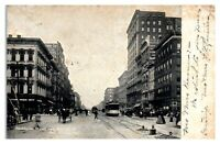 Washington Street, East from Meridian Street, Indianapolis, IN Postcard *228
