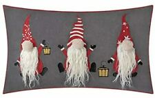 3D Santa Claus Accent Christmas Pillow Case, Cushion Cover Xmas Decor, 12x20inch