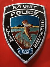 Seekonk Mass. Police K-9 Patch Canine colorful