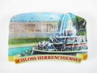 Schloss Herrenchiemsee Stone Magnet Poly Relief 8 cm Souvenir Germany