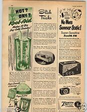 1950 PAPER AD Kool Aid 6 Flavors Zenith Radio Major Super-Triumph Certo