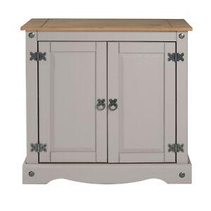 Corona Sideboard Grey Wax 2 Door Cupboard Solid Pine Dining Mercers Furniture®