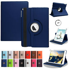 """For iPad 2345 6th 7th Generation 9.7"""" 10.2"""" Leather Flip Case Cover Rotate Stand"""