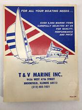 T & V Marine Supplies Catalog Boating Supplies No 378 Boats Paint Fishing etc