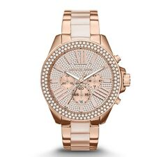 NEW MICHAEL KORS MK6096 LADIES WREN ROSE GOLD WATCH - 2 YEAR WARRANTY