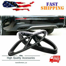 AMG Style Quad Exhaust Tips Tailpipe Cover Trim For A C E Class GLC CLA GLS GLE