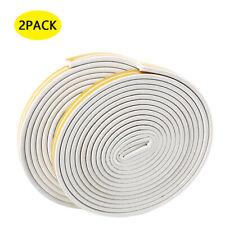 66ft Soundproof Weather Stripping Door Kit Self-Adhesive Rubber Door Seal Strip