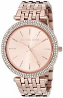 Michael Kors Darci Rose Gold Tone Stainless Steel MK3192 Women Glitz Watch