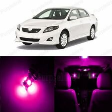 8 x Pink LED Interior Lights Package Kit Deal For Toyota Corolla S 2009 - 2013