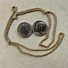 9 Ct Oro de segunda mano Antiguo sólido Cuerda Cadena
