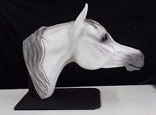 Bridle Buddy Arabian, Life size Horse Head , Display Wall GREY