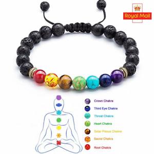 7 Chakra Anxiety Crystal Bracelet Healing Stone Balance Reiki Yoga  Friendship