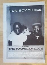 FUN BOY THREE 3 Tunnel AMOUR TOUR 1983 PRESS ADVERT COMPLET PAGE 39 x 28 cm