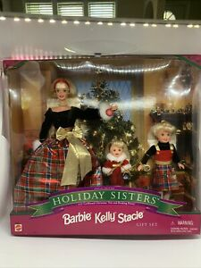 """BARBIE 1998 """"HOLIDAY SISTERS"""" SPECIAL EDITION GIFT SET - STACIE & KELLY - SEALED"""