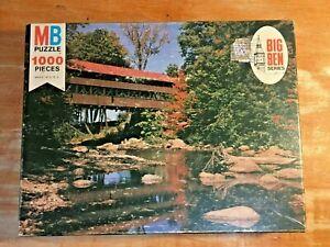 "Vintage Jigsaw Puzzle MB Big Ben 1975 ""Conway N.H."" NOS 1000 Piece"