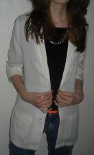 sexy H&M Blazer Boyfriend weiß Long Jacke  34 36 38 XS S M Revers Oversized NEU
