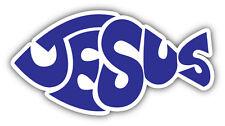 Jesus Fish Symbol Car Bumper Sticker Decal 6'' x 3''