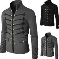 Retro Men's Gothic Brocade Jackets Frock Coat Steampunk Victorian Morning Coats