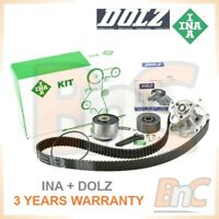 INA DOLZ OE HEAVY DUTY TIMING BELT KIT TENSIONER PULLEY & WATER PUMP