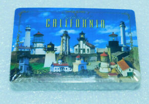 Lighthouses California Playing Cards Souvenir Poker Nature Design Sealed Deck
