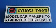 Corgi James Bond - Model Car Makers Leaflet - Near Mint