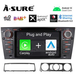 For BMW E90 E91 E92 Car Stereo Android 10 CarPlay DVD GPS SATNav DAB TouchScreen