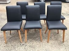 freedom set of 6 x  jesper dining chair in Black orp $1594