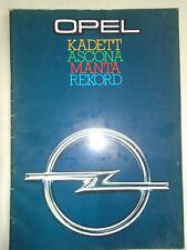 Opel range brochure Oct 1977 Ascona, Manta, Kadett