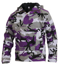 Mens Ultra Violet Camo Anorak Parka Jacket Coat Camouflage Hood Rothco 3647