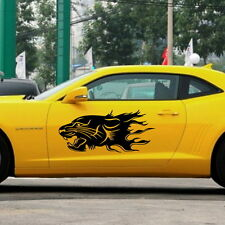 Car Running Lion Door Decal For Camaro Vinyl Animal Side stickers #1024