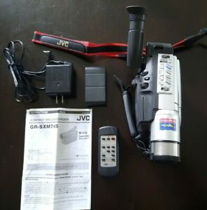 """JVC GR-SXM745U Super VHS-C Camcorder With 3.5"""" LCD & Accessories Untested"""