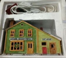 Dept 56 New England Village Nathaniel Bingham Fabrics Post Office1986