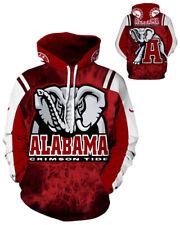 Alabama Crimson Tide Hoodie Medium-3XL Lightweight Unisex Men Women Football A