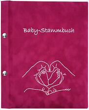 Baby-Stammbuch PAULA, Geschenk zur Geburt, Mädchen, pink, Unterlagen für Baby