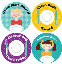 144 Clean Plate Awards 30mm Children's Reward Stickers for Teachers or Parents