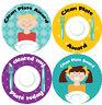 144 Clean Plate Awards 30mm Children's Reward Stickers for Teachers or Parents