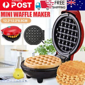 2021 Mini Waffle Maker Non Stick Snacks Pancake Cake Breakfast Making Machine AU