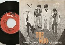 THE WHO SUMMERTIME BLUES & HEAVEN AND HELL NORWAY 45+PS `70 THE HIGH NUMBERS MOD