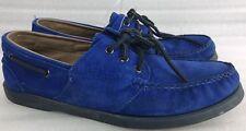Sebago Ronnie Fieg Rare Blue Suede Boat Shoes Sz 9 1/2 M Docksides